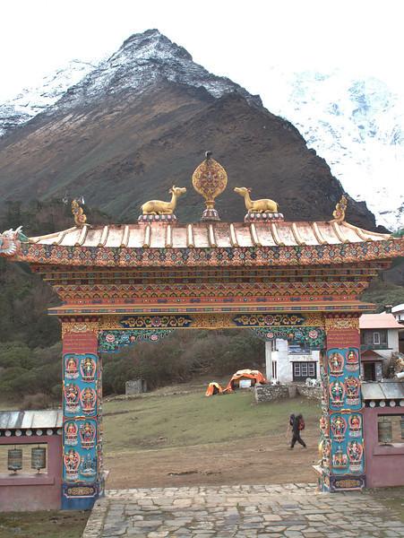 Entrance gate of Monastery of Deboche 3630m