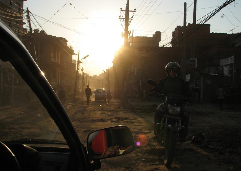 Bad pavement, Kathmandu 1300m