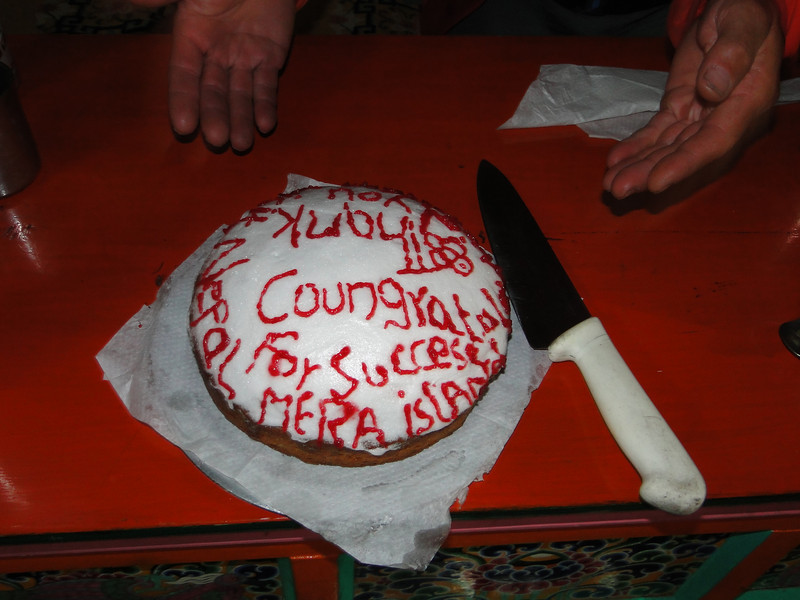 The farewell party cake, Lukla 2800m