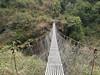 Suspension bridge, Pangkom 2850m-Najing 2600m
