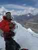 10.50h Mingmar Sherpa on the summit of Island Peak (Imja Tse) 6189m