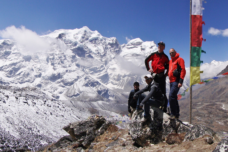 View point above Camp Kare 4950m