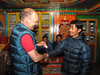 Thanking Ang Geljem Dawa Sherpa, Expedition Farewell Party, Lukla 2800m