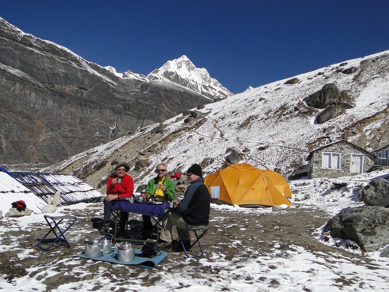 Breakfast, Camp Kare 4950m