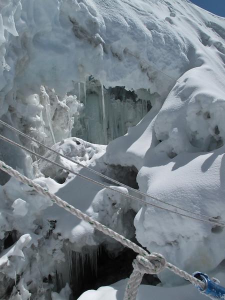 9.23h ascending ice wall, 300m to summit. Ascending Imja Tse, Island Peak 6160m