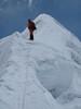 10.22h last arete to the summit. Ascending Imja Tse, Island Peak 6160m