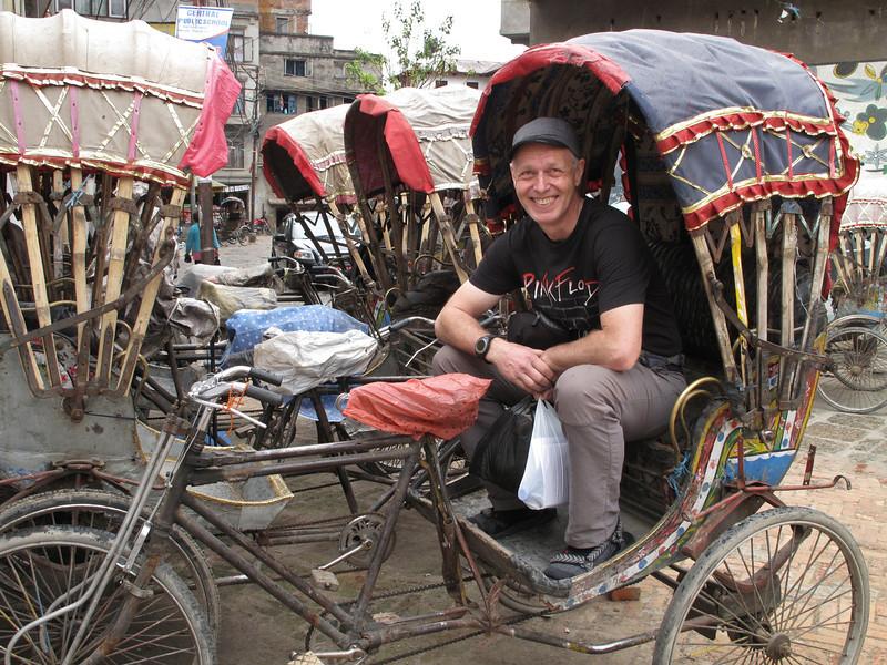 Riksja transport, Thamel, Kathmandu 1300m