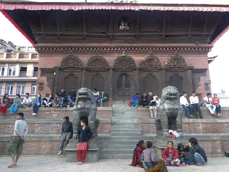 Durbar Square, Kathmandu 1300m