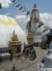 Swayambhunath temple, Monkey Temple, Kathmandu 1300m