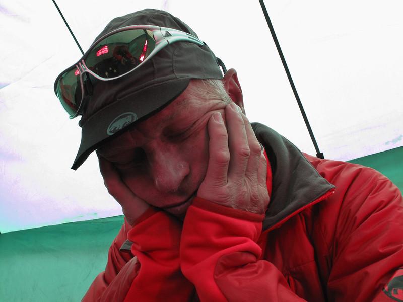 Take a nap, Island Peak Base Camp 5000m