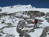 In the background the Mera Peak, Mera Peak base camp (Mera La) 5350m-Mera Peak advanced camp 5800m