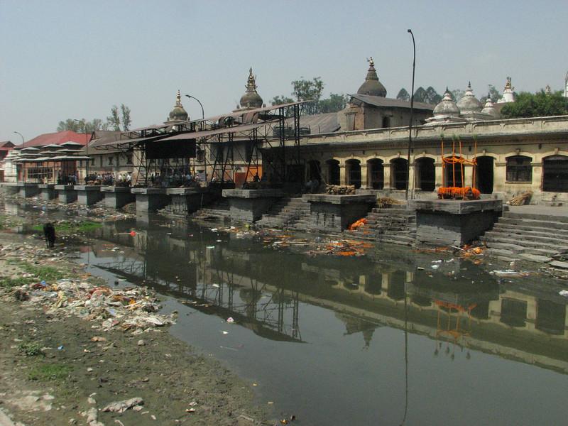 Hindu cremation ceremony place along the Holy Bagmati river, Pashupatinath, Kathmandu