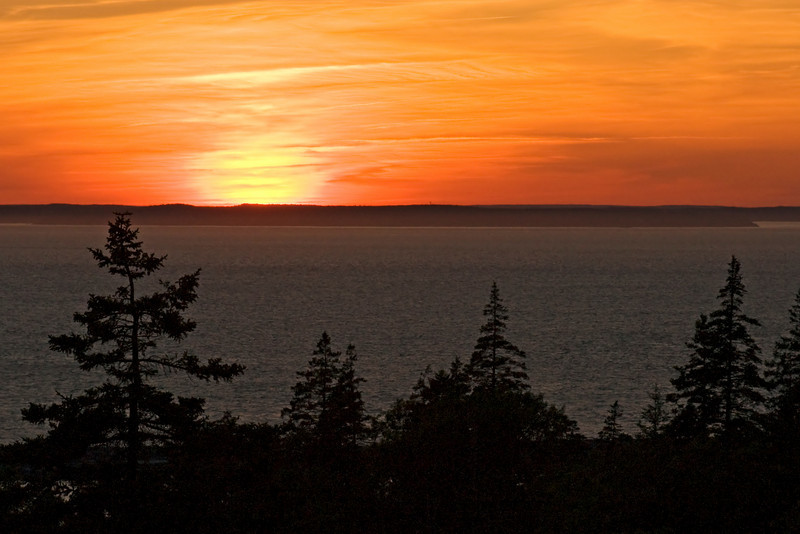 Sunset on Grand Manan Island, New Brunswick.