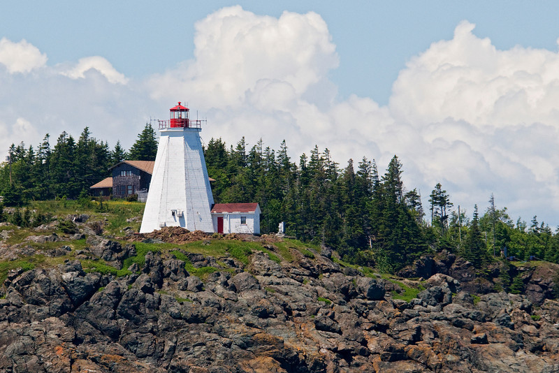 Here is a closer view of Swallowtail Lighthouse which is located on Grand Manan Island.