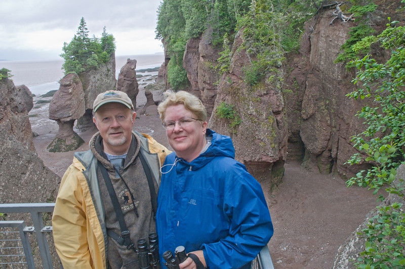 Here is a photo of Diana and me at Hopewell Rocks Park.