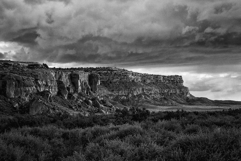 Black and White of the Bluff