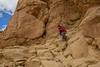 Climbing down from Pueblo Alto Nuevo