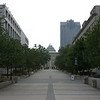 A shot down the centre - you can see the capital building and court house at the end of the walkway