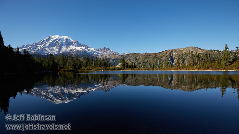 Mt. Rainier reflections (9/10/2015, Bench Lake, Mt. Rainier NP, WA)<br /> EF16-35mm f/4L IS USM @ 16mm f/8 1/200s ISO100