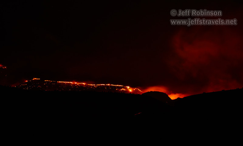 Wildfire burning north of our camp site (8/17/2017, 6152 Northwest Danube Dr., Madras eclipse trip)<br /> EF100-400mm f/4.5-5.6L IS II USM @ 349mm f5.6 6s ISO400