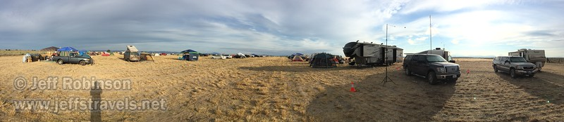 By Sunday night the campground had filled up with an estimated 200 campsites filled (both RV and tent).