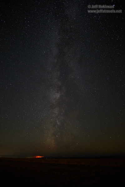 Southerly view of the Milky Way with a distant wildfire below it. (8/18/2017, 6152 Northwest Danube Dr., Madras eclipse trip)<br /> 20mm F1.4 DG HSM | Art 015 @ 20mm f1.4 10s ISO1600