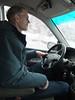 Brad driving.