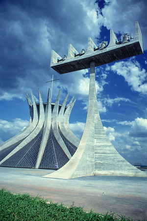 "Until my visit to Brasilia, I was a big fan of the ultramodern style of architecture. I liked glass towers and unadorned concrete facades.  I expected Brasilia, a ""city of the future"" built from scratch in late 1950s and early 1960s, to really impress me and it did but not in the way I expected. It turns out that gleaming spotless facades do not age well.  Even in 1979, a mere twenty years after most of the city's famous buildings were constructed, a lot of them were looking pretty ratty and stained. The eye is drawn to any imperfection on blank surfaces.  If you erect spotless facades plan on cleaning them frequently."