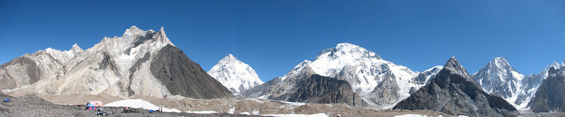 Concordia with K2 and Broad Peak, Karakorum