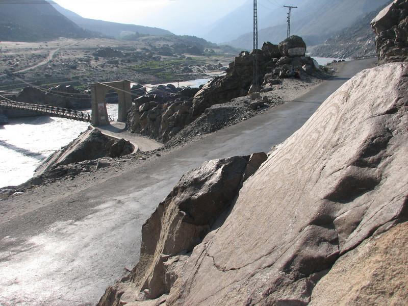 Rock carvings near Thalpan Bridge (near Chilas)