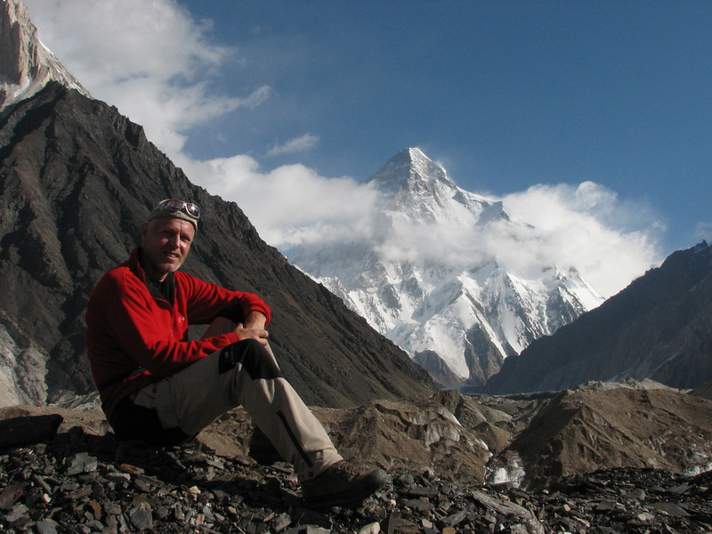 K2 mountain, second highest mountain of the world 8611m. (Concordia 4650m.)