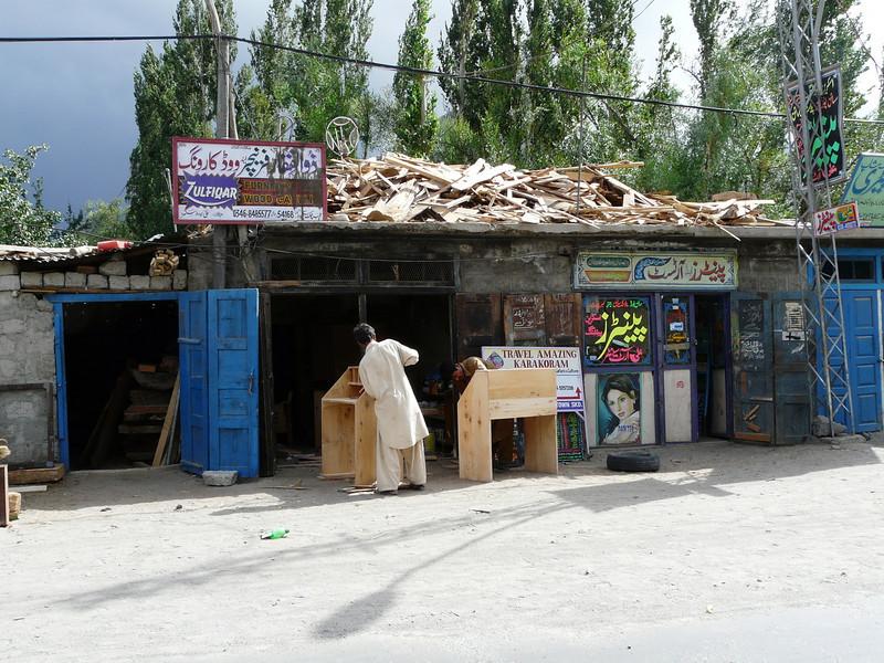 outside furniture workshop (Skardu 2268m.)