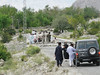 road blockade..... 7 ours delay (political agitation near Gilgit)