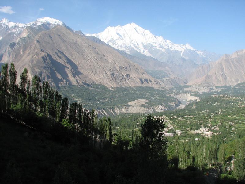 Indus valley with Rakaposhi 7788m.