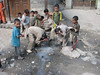 washing children (Skardu 2268m.)