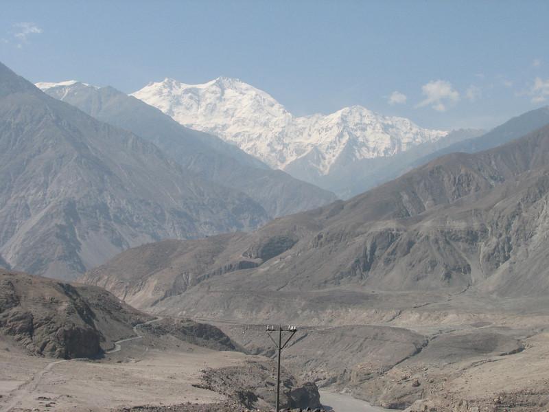 Karakorum highway, Indus and Nanga Parbat 8126m. (near Chilas)