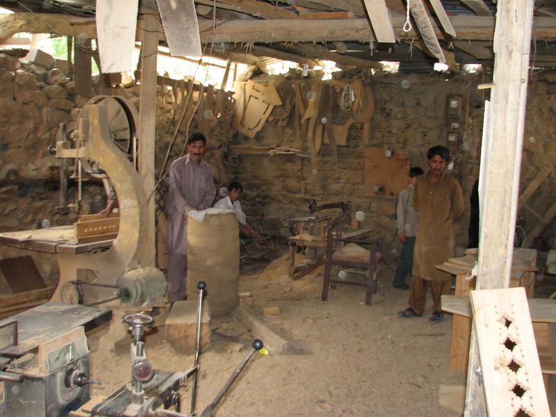 inside furniture workshop (Skardu 2268m.)