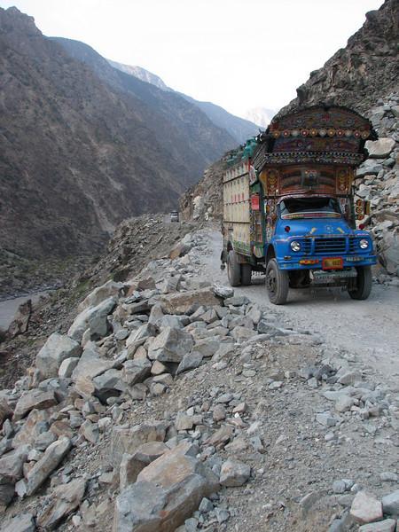 sometimes very small roads (Karakorum highway)