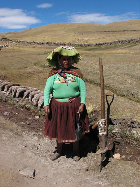cut sods, with using a Inca tool or....... (Peru 2009, Nevado Ausangate)
