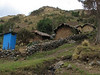 A blue toilet, received from the government (Peru 2009, Cordillera Blanca)
