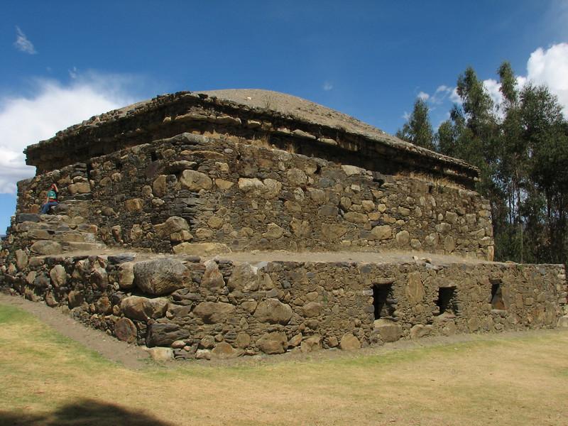 Inca ruines of Willkawain (Peru 2009, near Huaraz (3090m.))