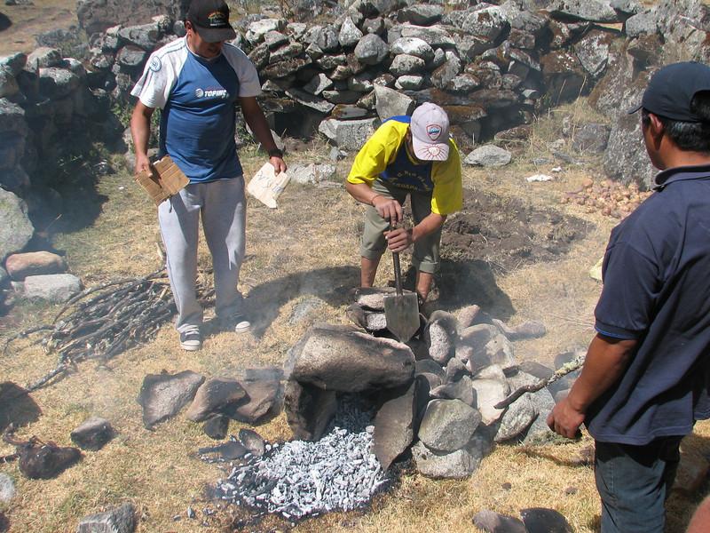 Macchamanca, make place, shift the stones, phase 2 (Peru 2009, Cordillera Blanca)