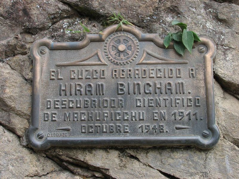 sign in Machu Picchu (Peru 2009, Machu Picchu 2430m.)