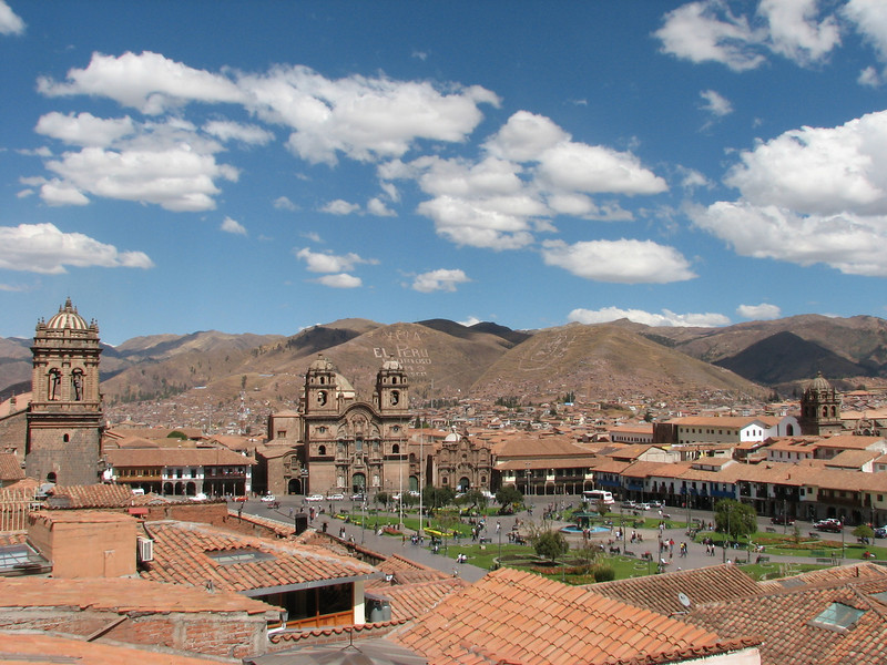 Cusco with Plaza de Armas (Peru 2009, Cusco 3360m.)