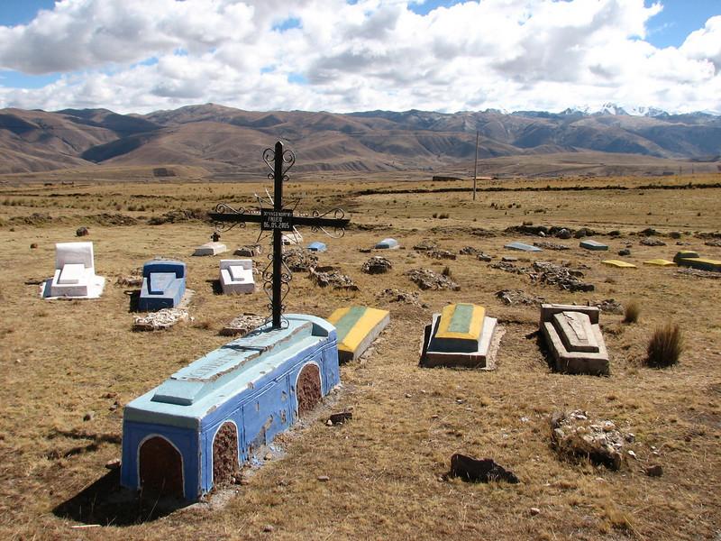 Roman Catholic semetery (Peru 2009, Pacchanta 4300m - Tinqui 3900m. Nevado Ausangate)