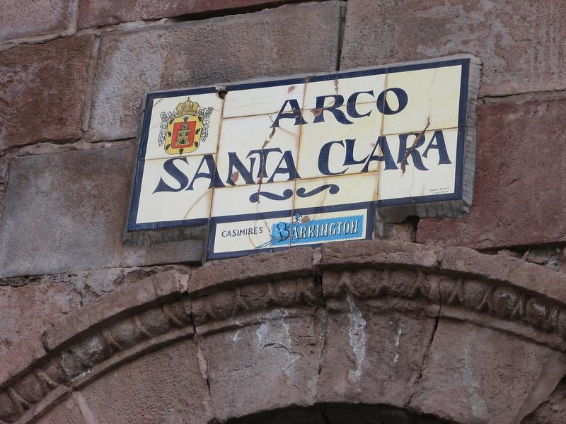the arche: Arco Santa Clara (Peru 2009, Cusco 3360m.)