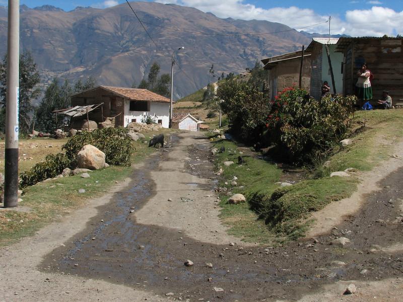 The last village, Calamina 3950m. (Peru 2009, Calamina 3950m. Cordillera Blanca)