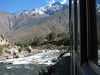rail journey from Aquas Calientes to Machu Picchu 2430m. (Peru 2009, near Machu Picchu 2430m.)