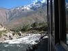 rail journey from Aquas Calientes to Machu Picchu 2430m. (Peru 2009, near Machu Picchu 2430m.)