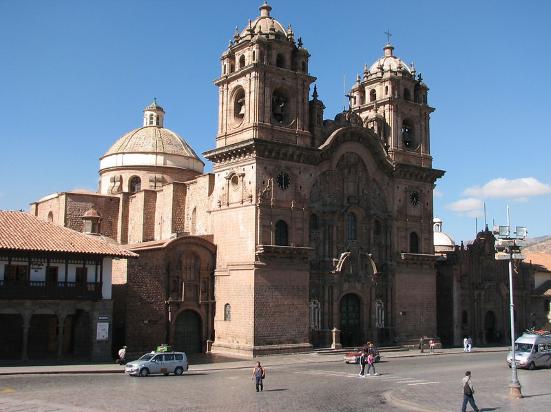La compania de Jezus, the most beautiful church of Cusco (Peru 2009, Cusco 3360m. )